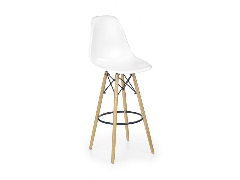 H51 barová židle bílá