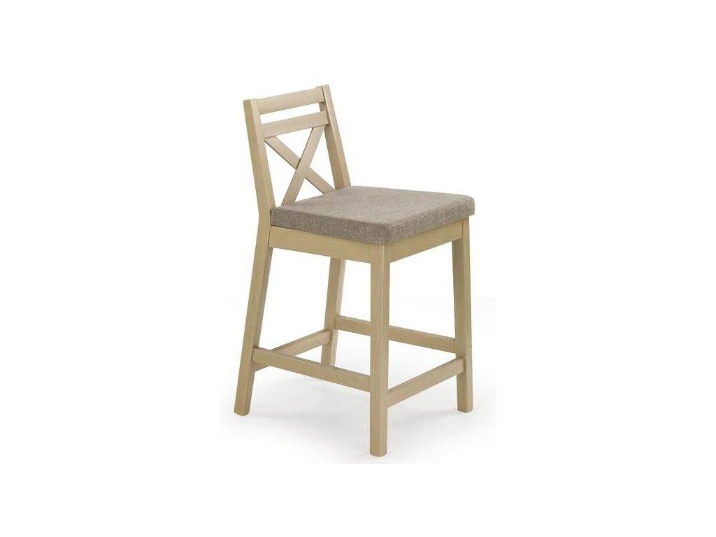 BORYS LOW židle barové nízké dub sonoma / polstrování: inari 23
