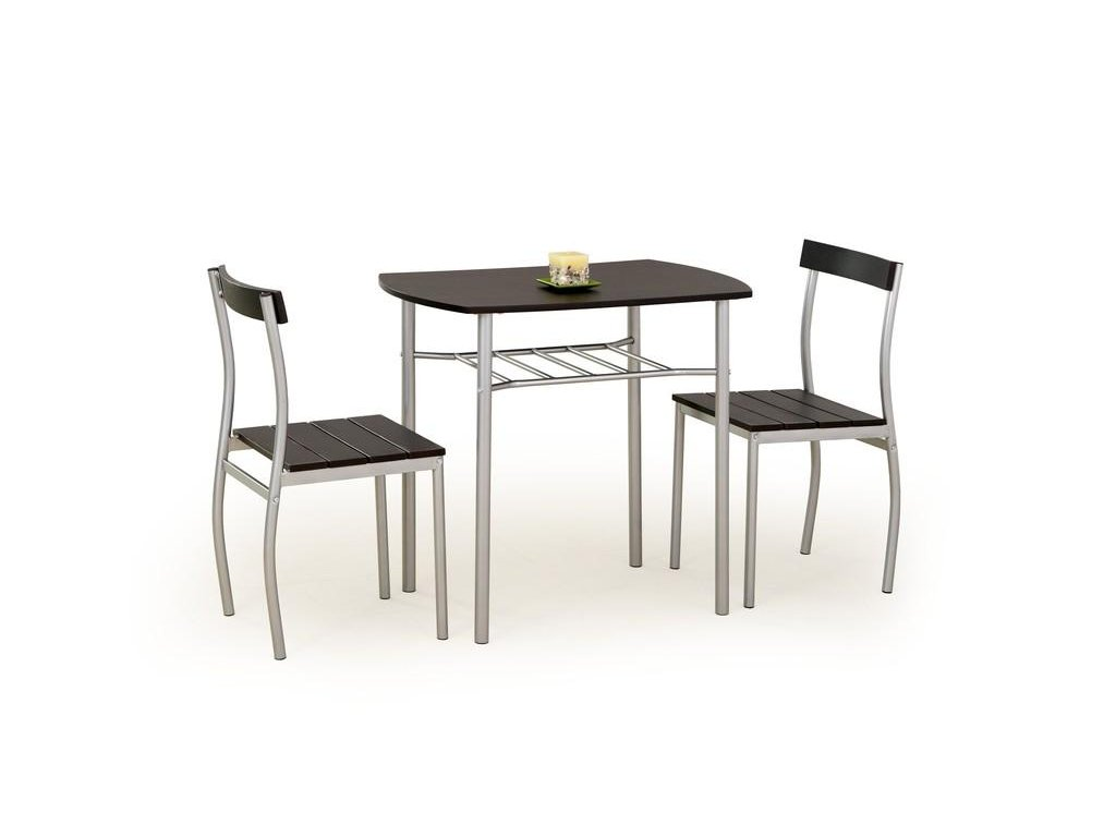 LANCE sada stůl + 2 židle wenge