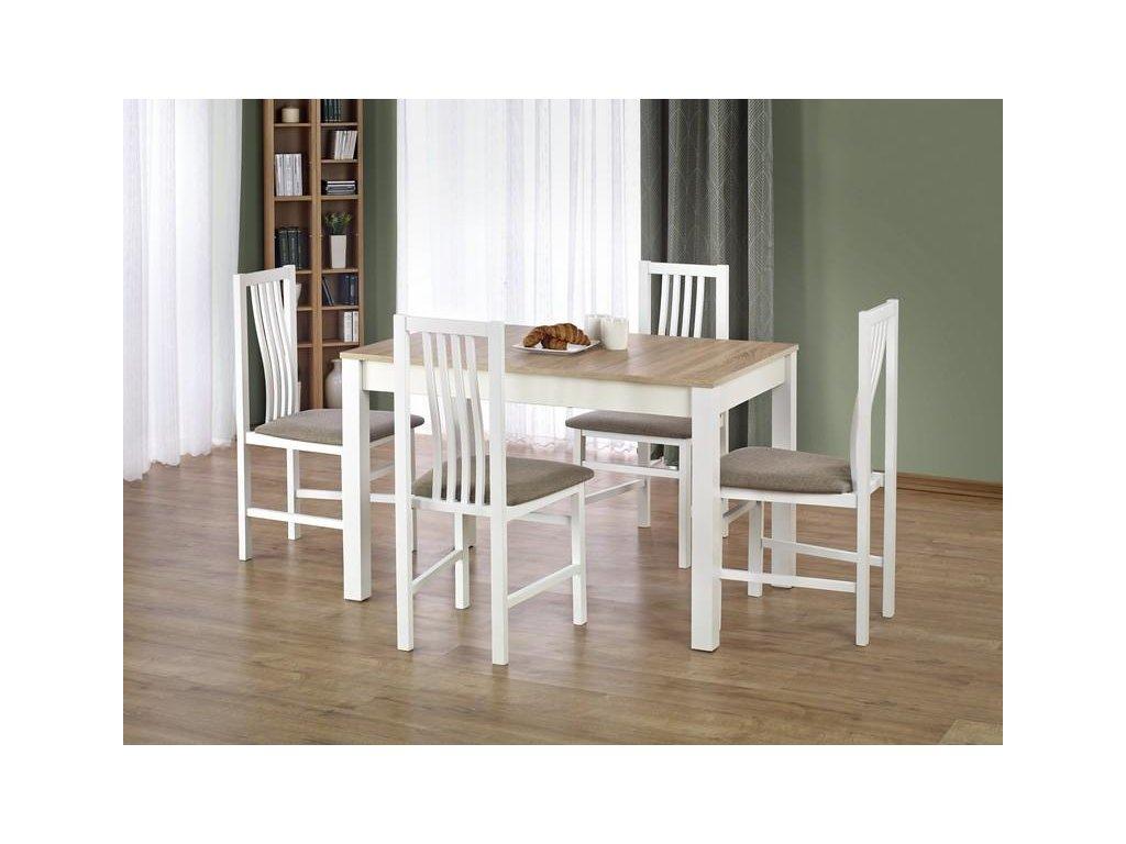 XAVER stůl barva dub sonoma / bílý