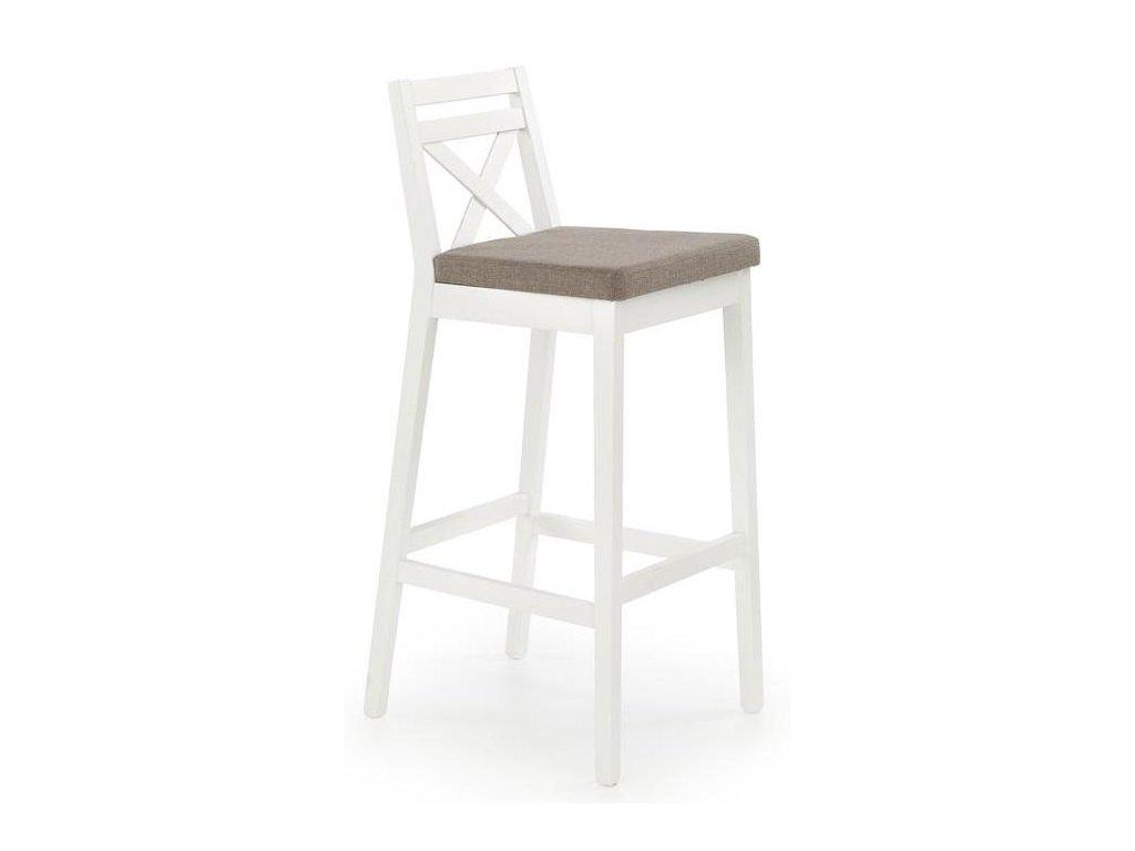 BORYS židle barové vysoké bílá / polstrování: inari 23