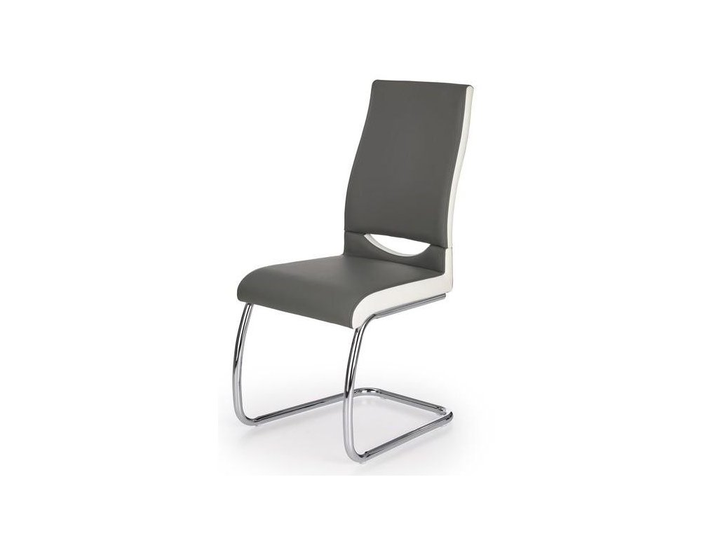 K259 židle šedá / bílá