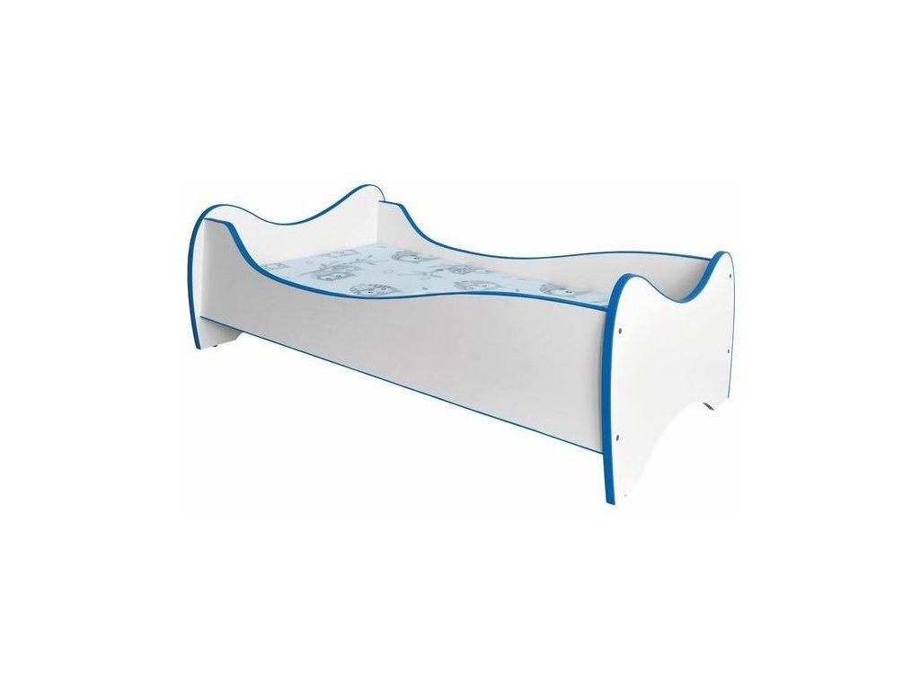 DUO postel bílá / modrá