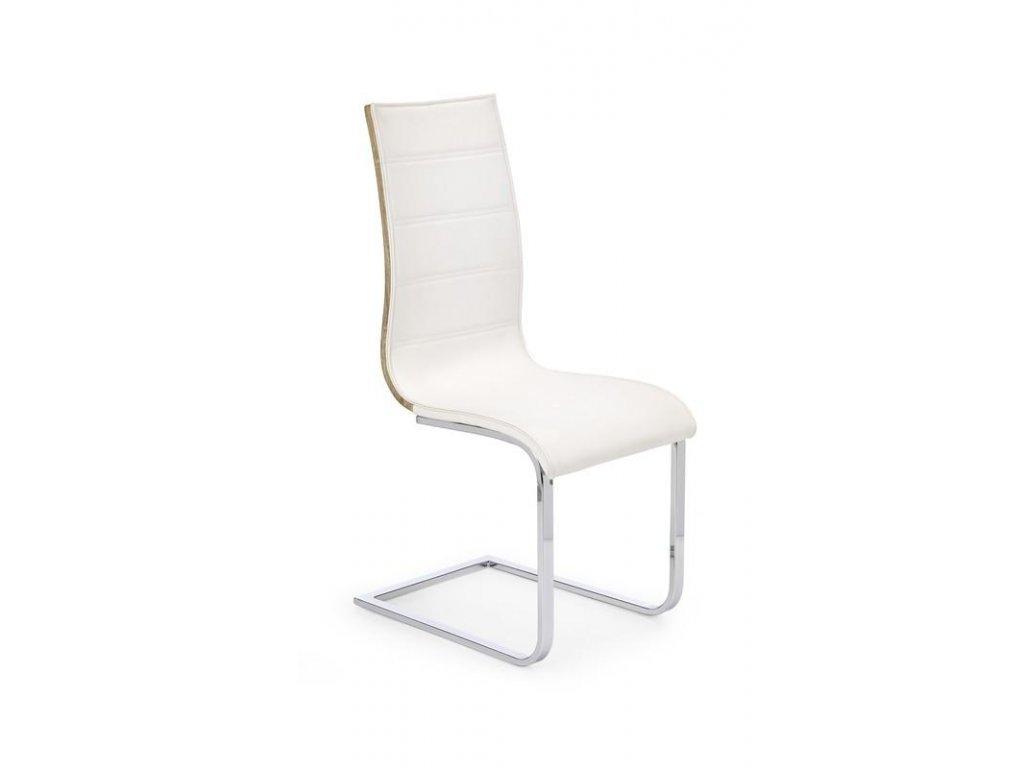 K104 židle bílá / sonoma koženka