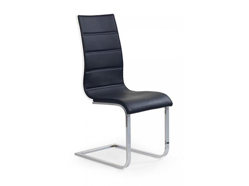 K104 židle černá / bílá koženka