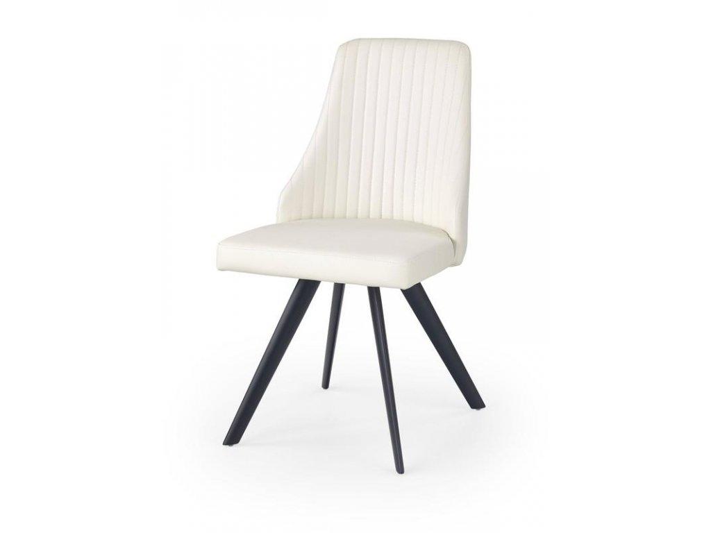 K206 židle bílá / černá