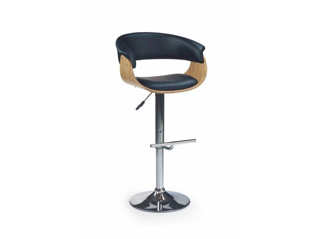 H45 barová židle světlý dub / černá