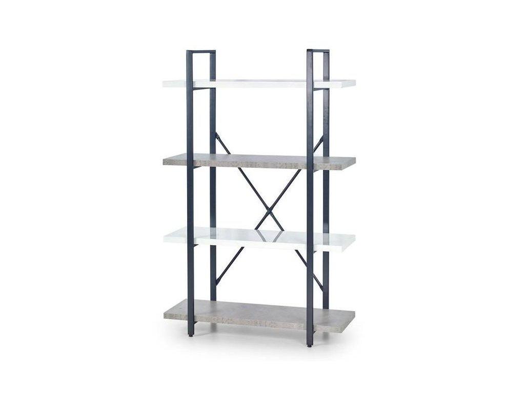 STONNO reg1 regál bílý / beton