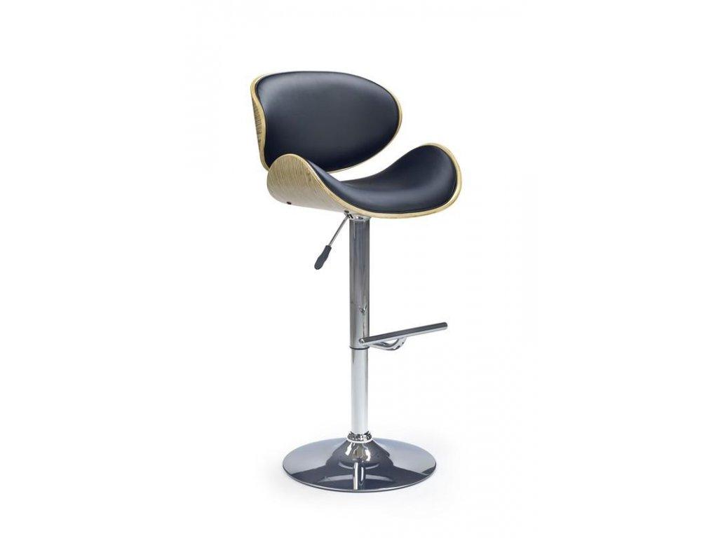 H44 barová židle světlý dub / černá