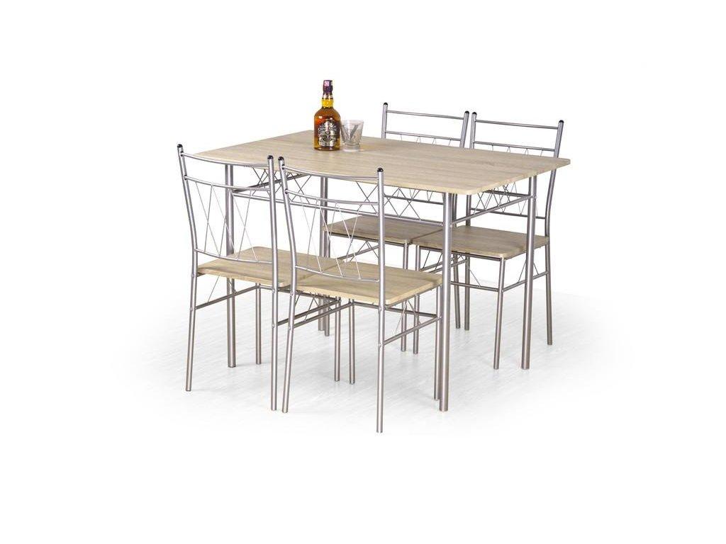 FAUST sada stůl + 4 židle dub Sonoma