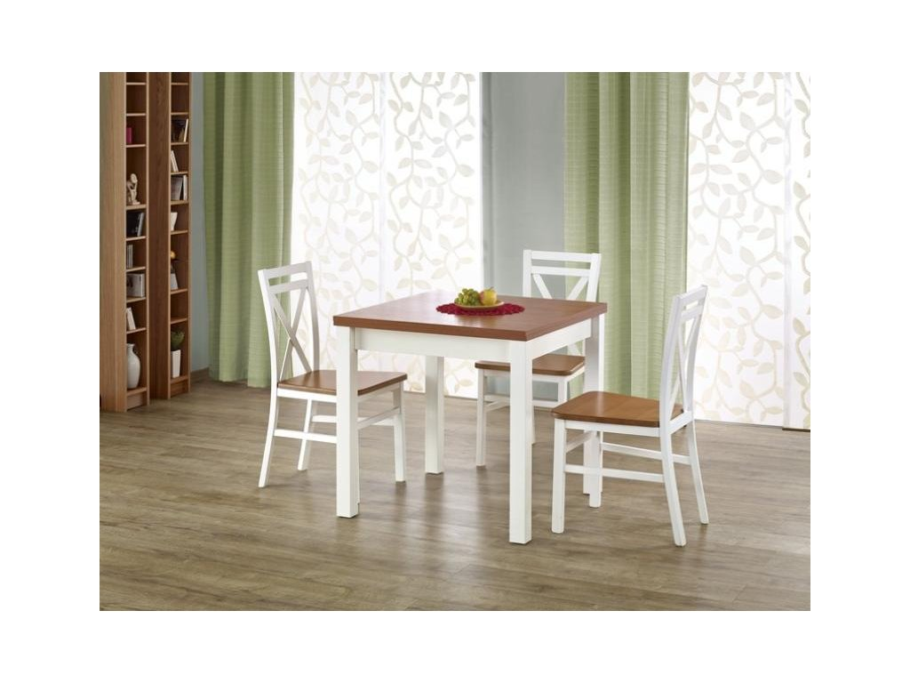GRACJAN stůl barva olše / bílý