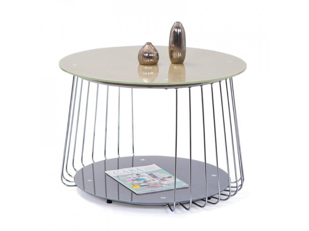 RIVA stolek konferenční šedý