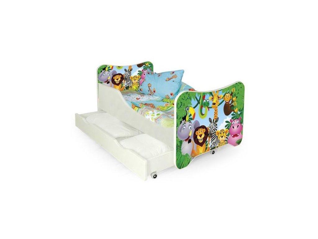 HAPPY JUNGLE postel vícebarevná