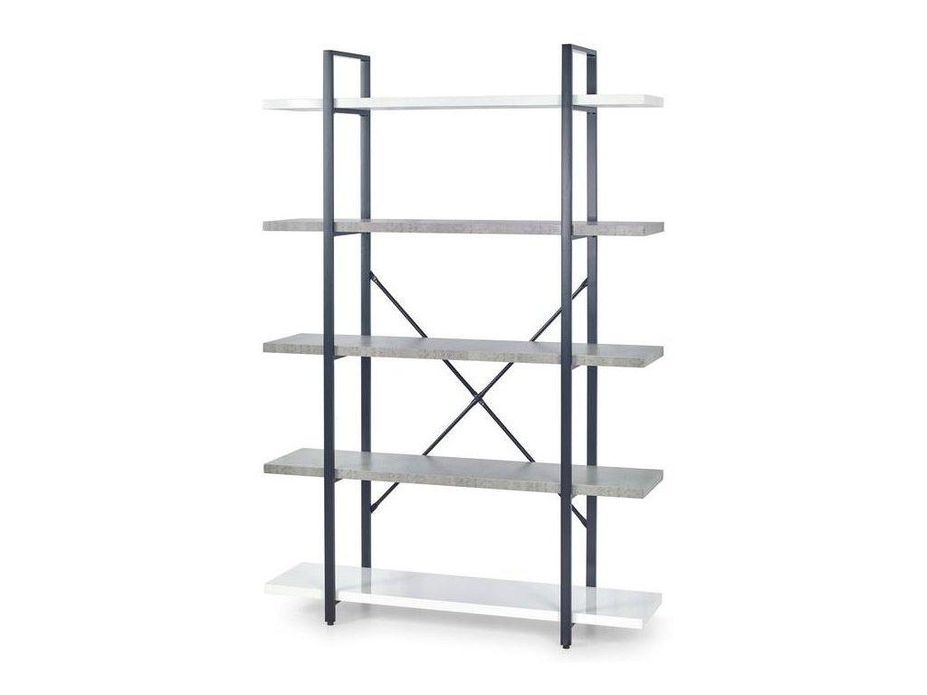 STONNO reg2 regál bílý / beton