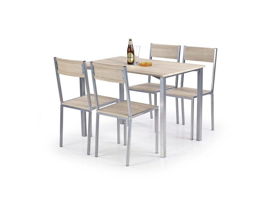 RALPH sada stůl + 4 židle dub sonoma