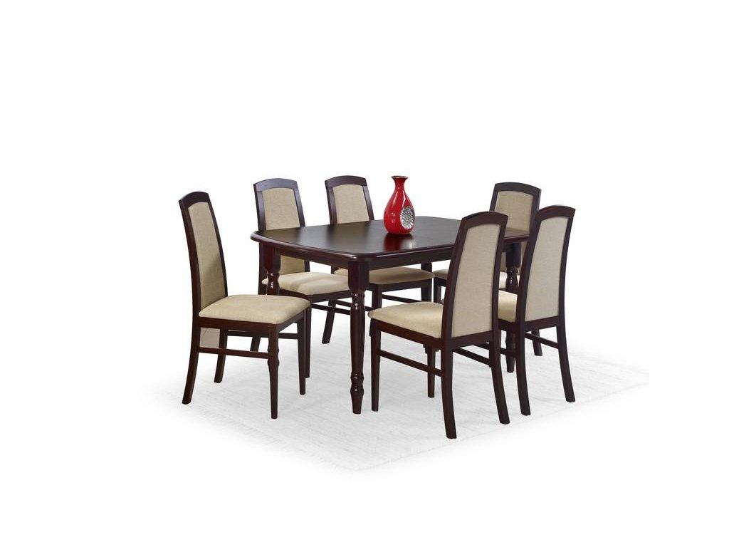 ARNOLD stůl barva tmavý ořech (150-190x80x75 cm)