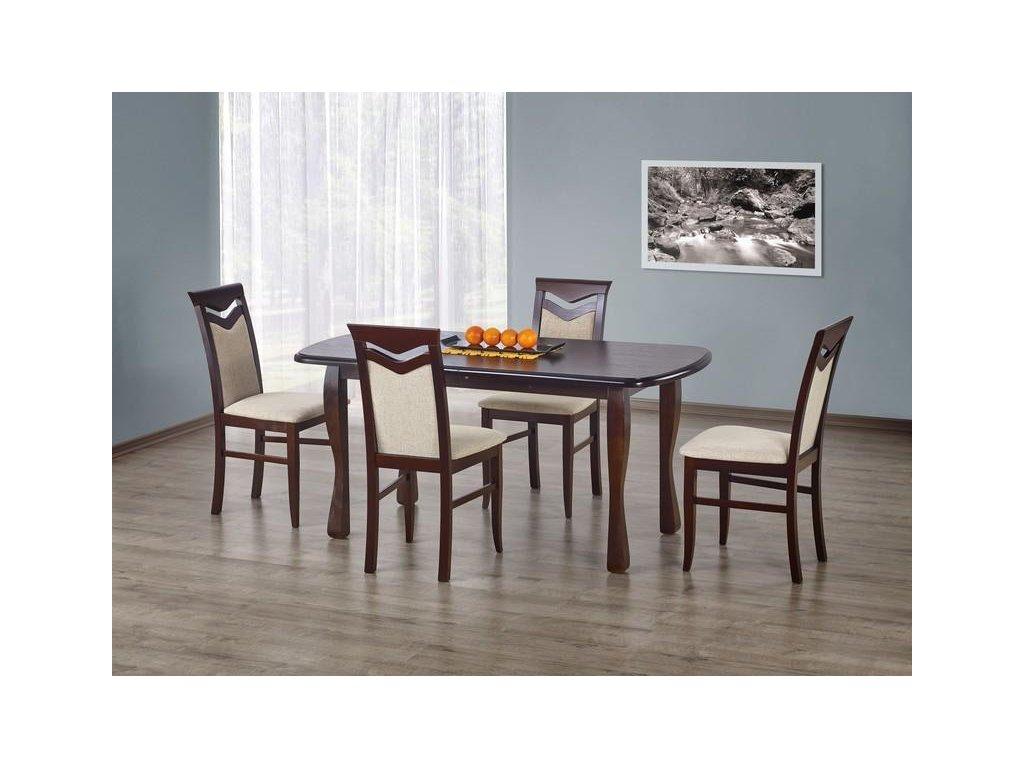 HENRY stůl barva tmavý ořech (160-200x80x75 cm)
