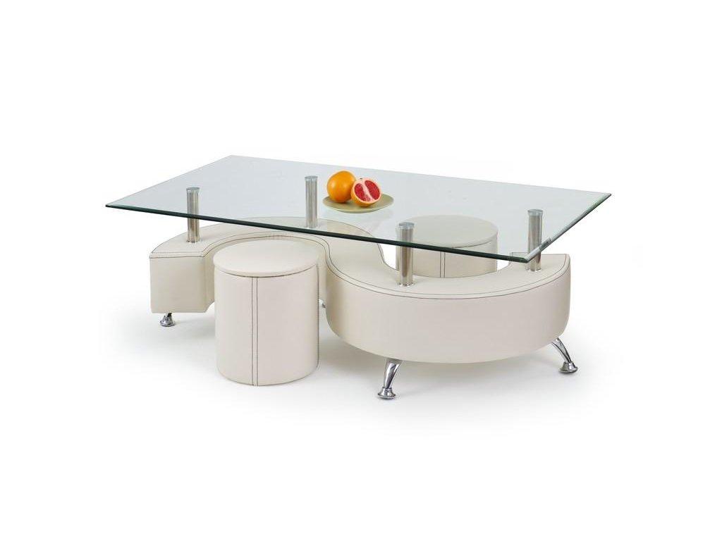 NINA 3 H stolek konferenční bílý