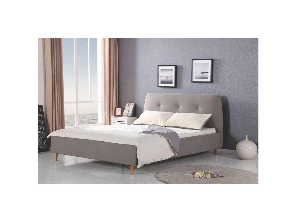 DORIS postel šedá