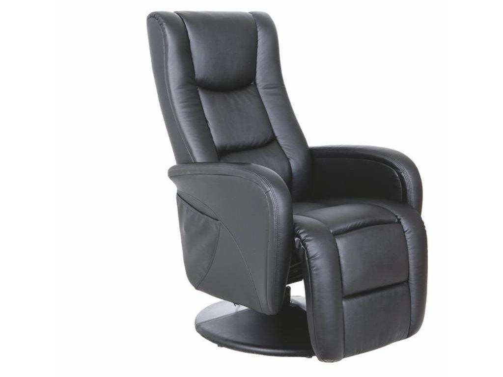 PULSAR recliner s funkcí masáže a topení černý
