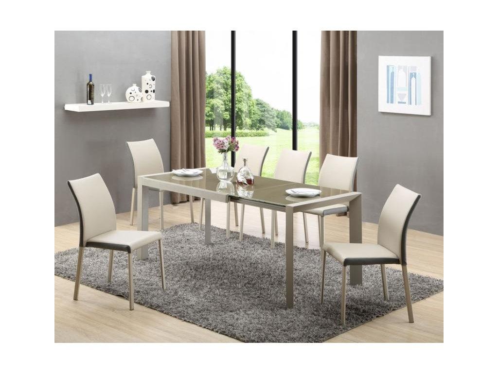 ARABIS stůl rozkládací světle hnědý / béžový