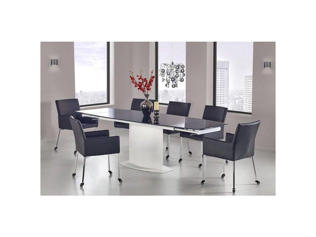 ANDERSON stůl bílo - černý