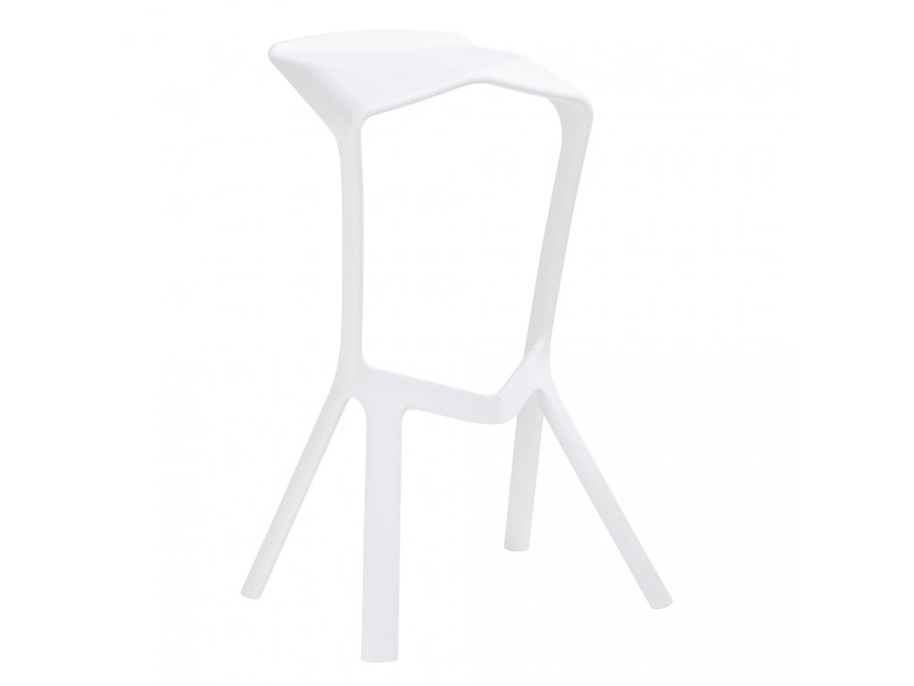 Barová židle MIURA bílá polypropylen
