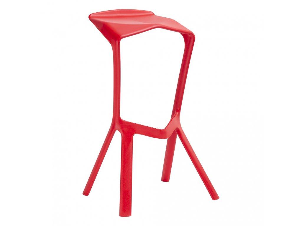 Barová židle MIURA červená polypropylen