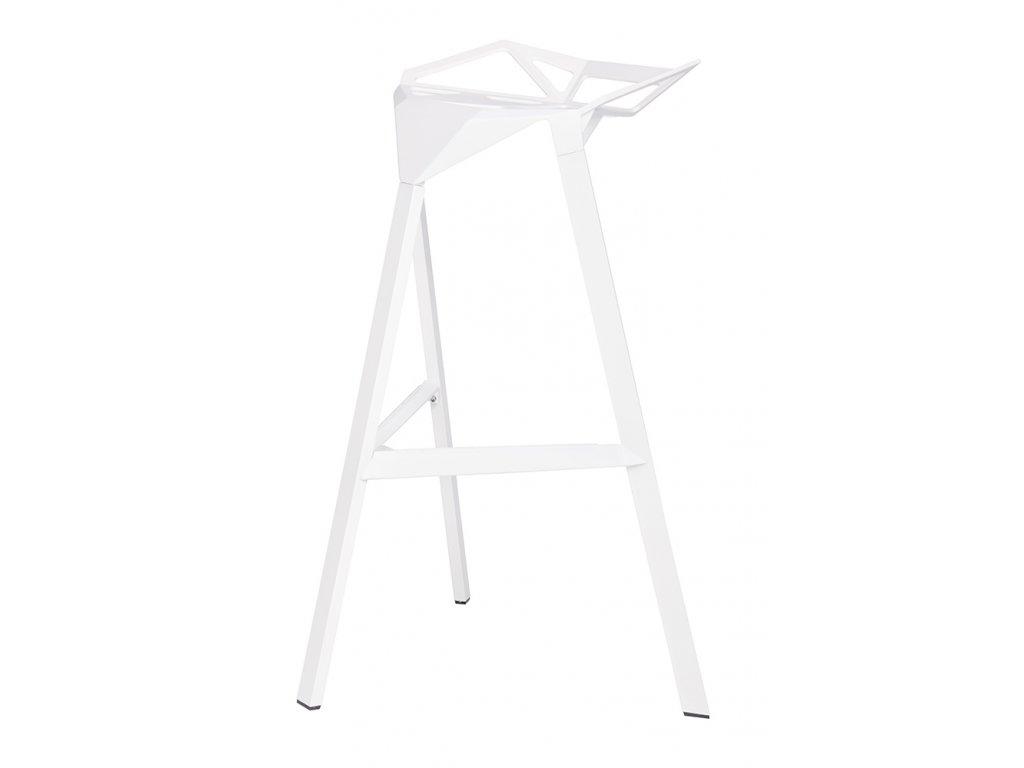 Barová židle SPLIT bílá - hliník