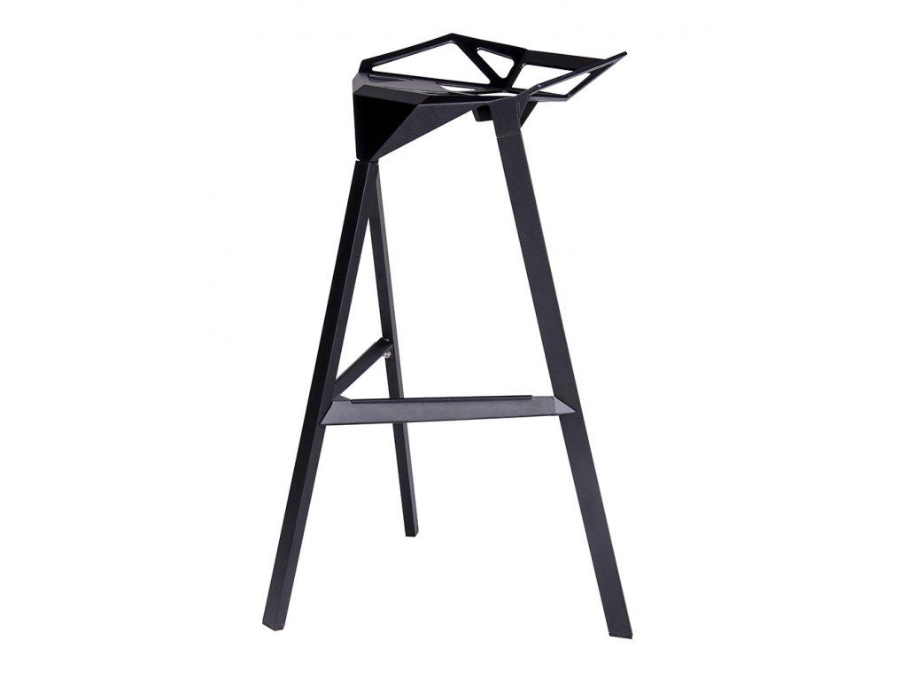 Barová židle SPLIT černá - hliník
