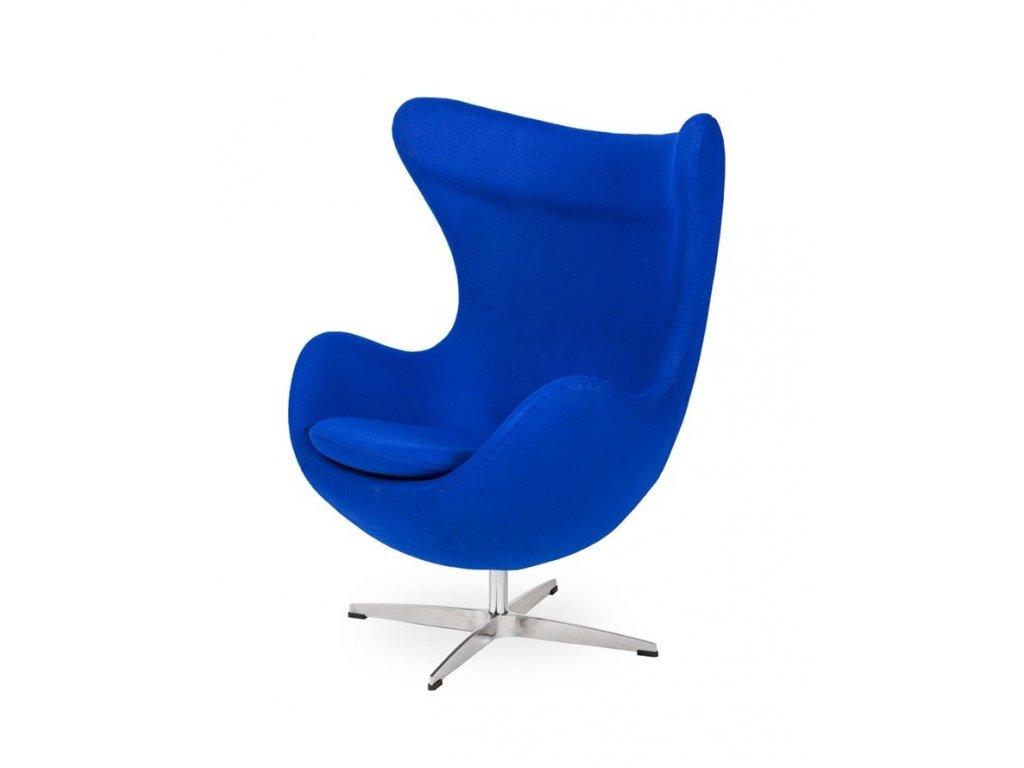 Křeslo EGG - inkoustově modré #29 vlna/ chrom