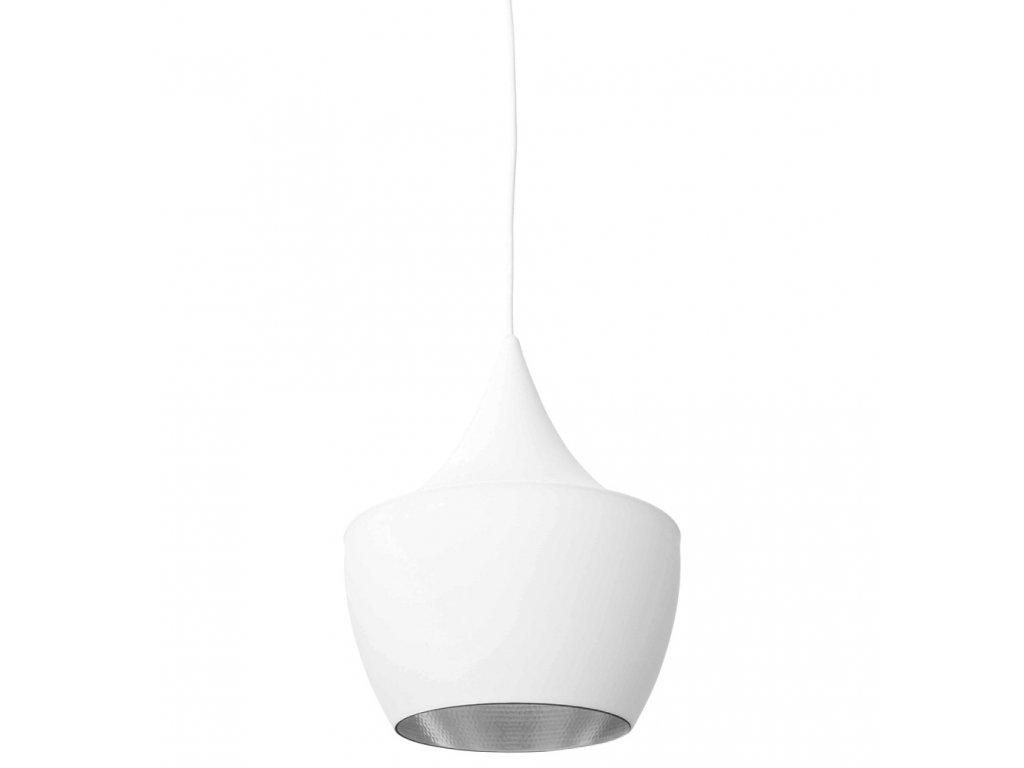 Lustr - lampa BET SHADE fat kov/bílá-stříbrná