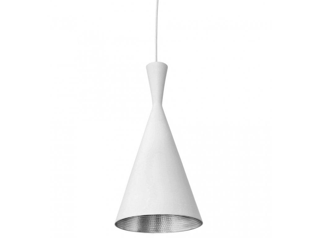 Lustr - lampa BET SHADE tall kov/bílá-stříbrná