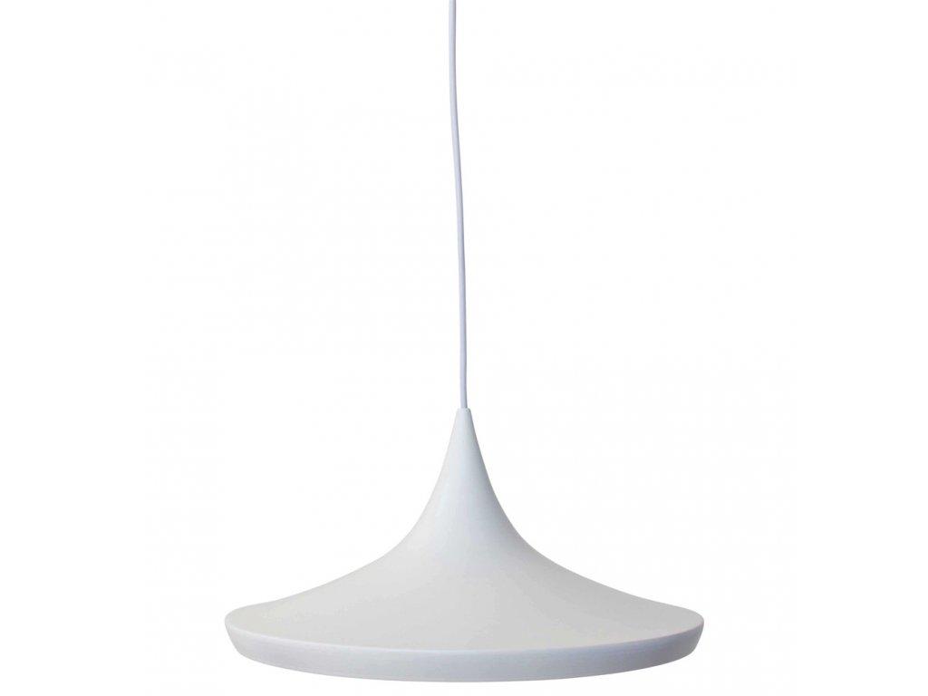 Lustr - lampa BET SHADE wide kov/bílá-stříbrná