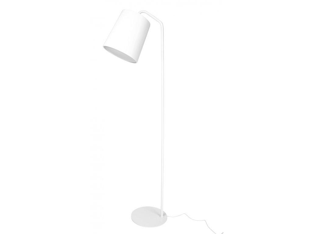 Lampa FLOOR FLAMING bílá