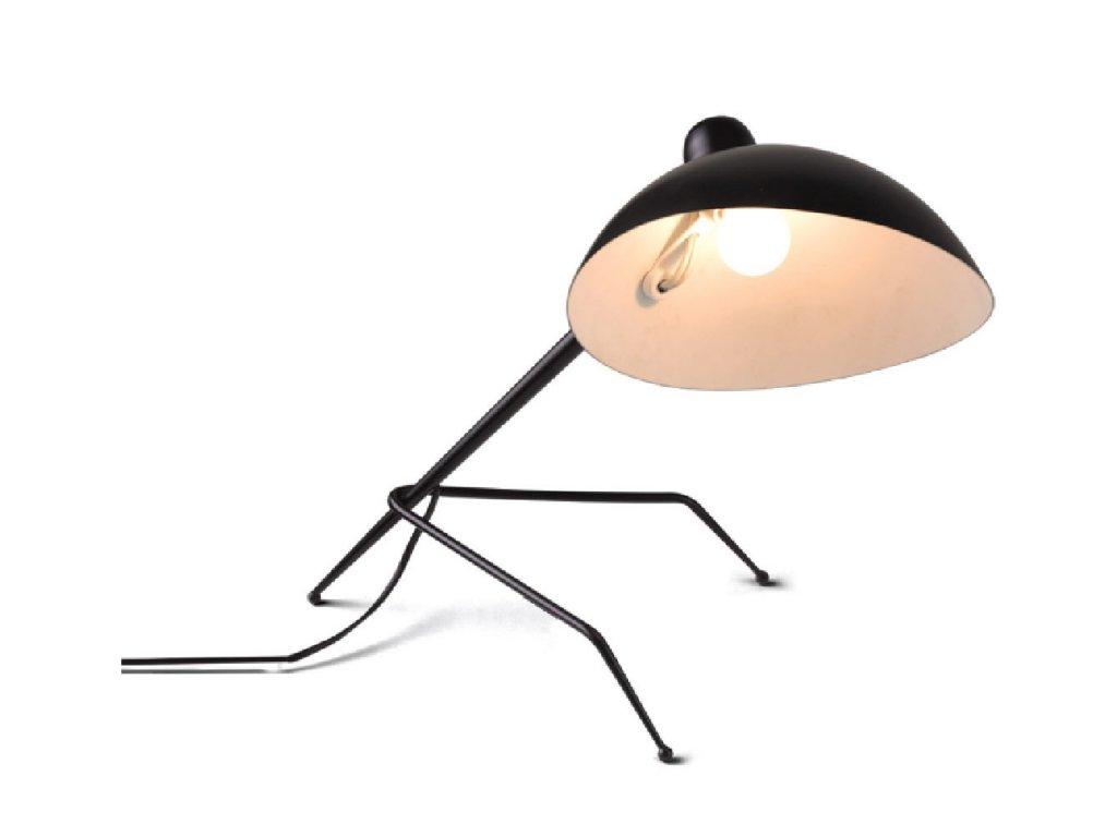 Lampa kancelářská RAVEN kov/černá bílá/1 rameno