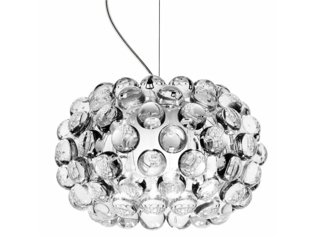 Lustr - lampa závěsná ARIA 35 sklo/akryl/35 cm