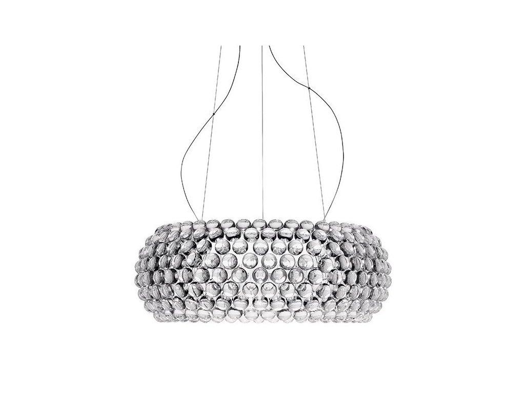 Lustr - lampa závěsná ARIA 65 sklo/akryl/65 cm