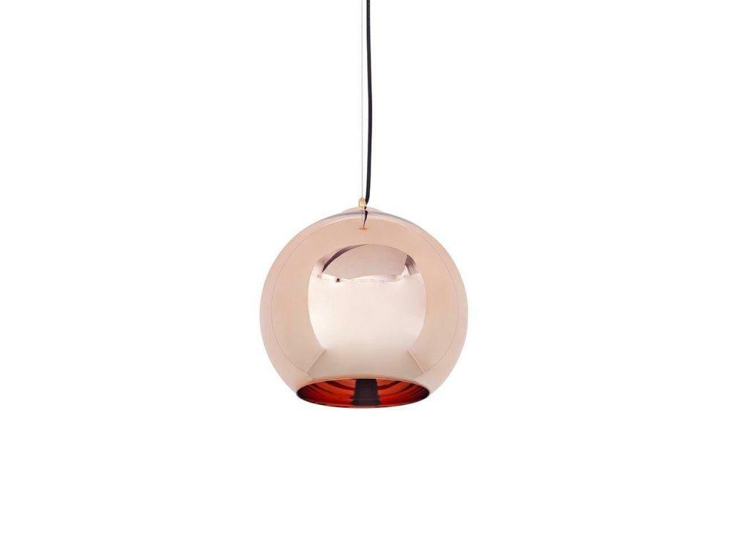 Lustr - lampa závěsná BOLLA 20 cm sklo měděné 20 cm