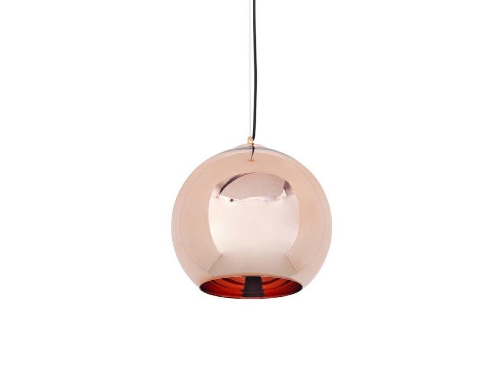 Lustr - lampa závěsná BOLLA 25 cm sklo měděné 25 cm