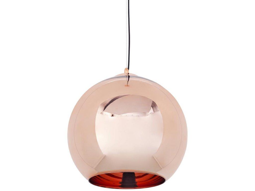 Lustr - lampa závěsná BOLLA 45 cm sklo měděné 45 cm