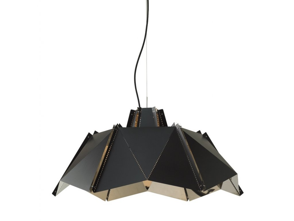 Lustr - lampa závěsná ORIGAMI 45 kov/černá stříbrná