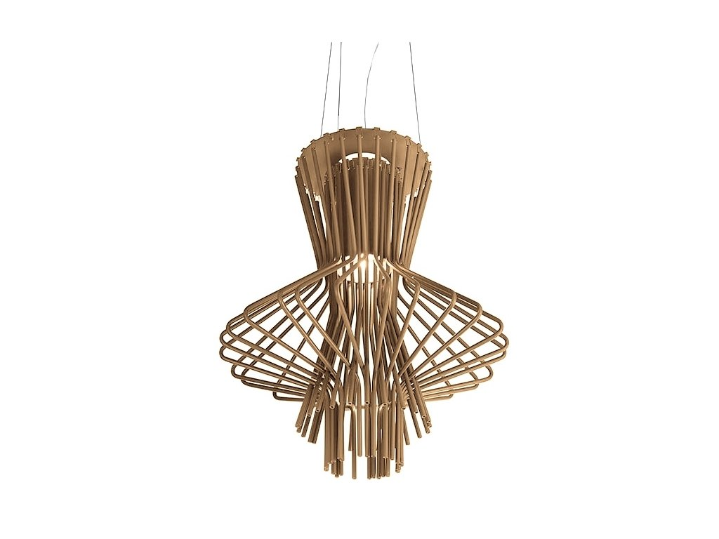 Lustr - lampa závěsná STRAW ocel uhlíková/ hnědá
