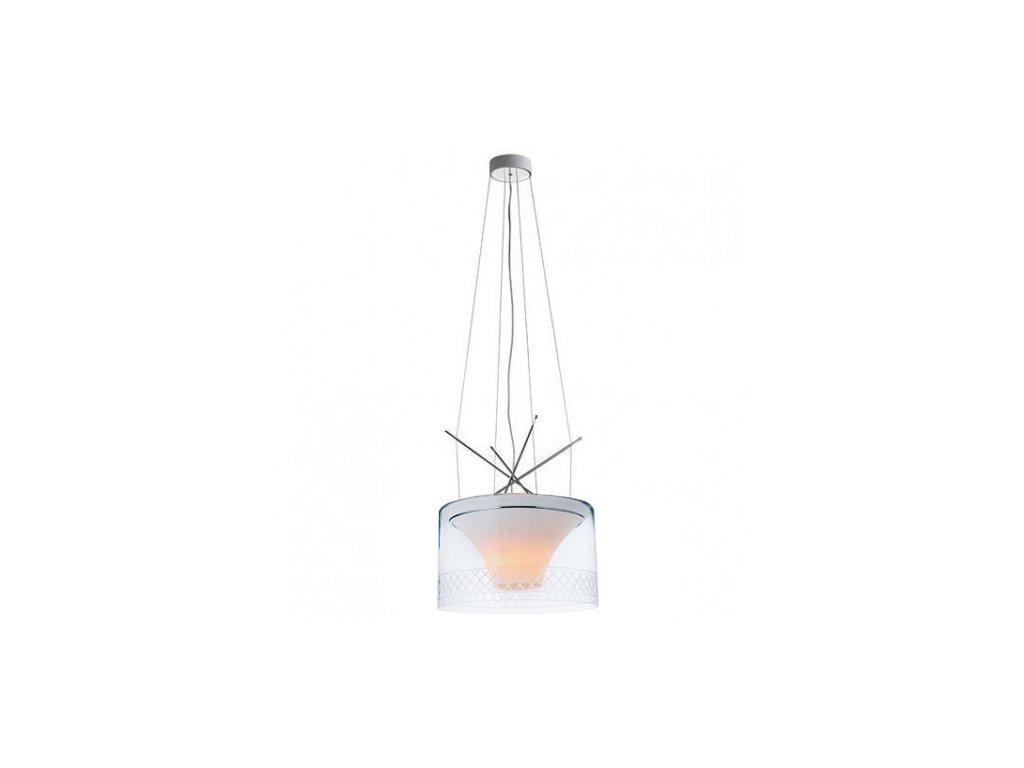 Lustr - lampa závěsná VOLCANO sklo/kov