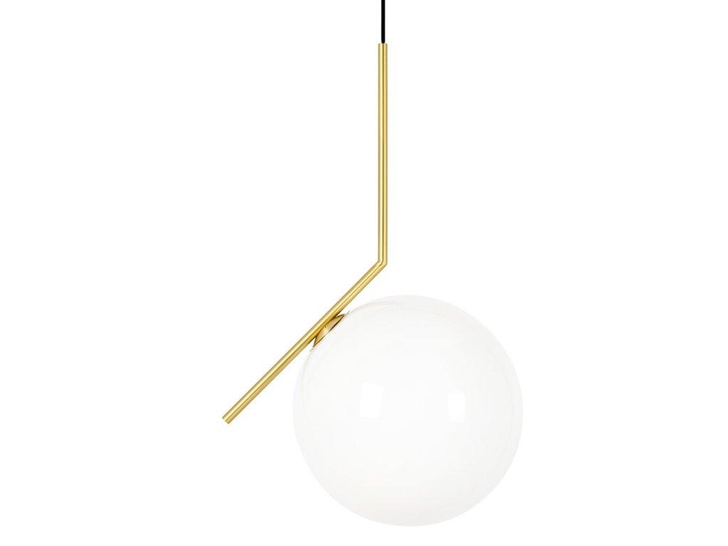Lustr - lampa závěsná HALMCE 30 - mosaz, sklo