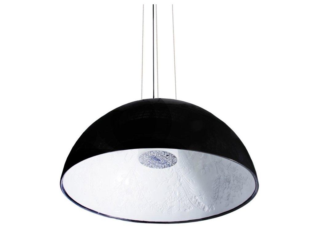 Lustr - lampa závěsná elegantní 90 černá