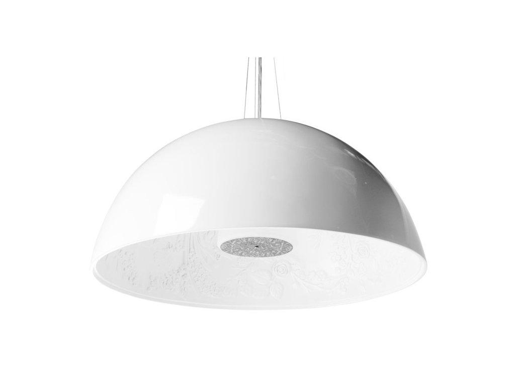 Lustr - lampa závěsná elegantní 90 bílá