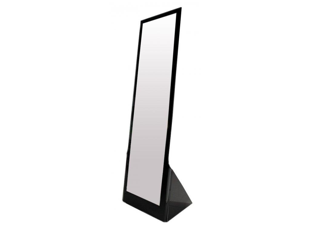 Zrcadlo stojící GLAMOUR černé sklo černé