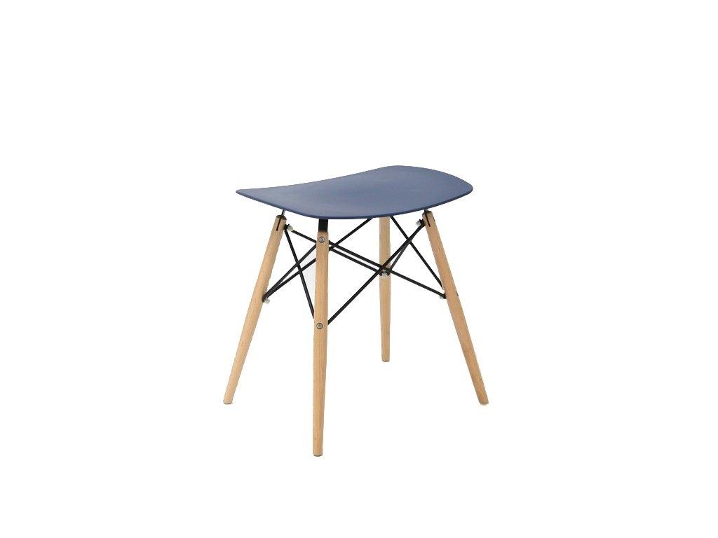 Stolička HANDY tmavě modrá polypropylen/ buk