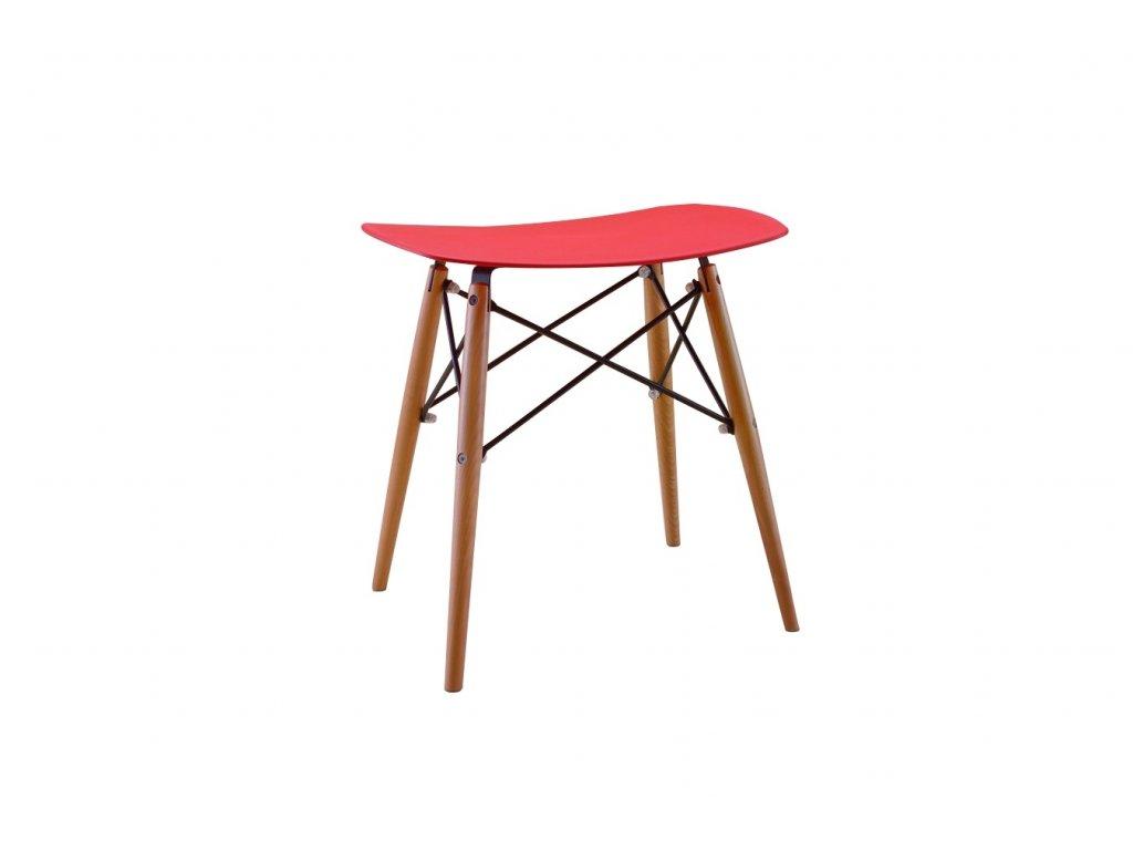 Stolička HANDY červená polypropylen/ buk